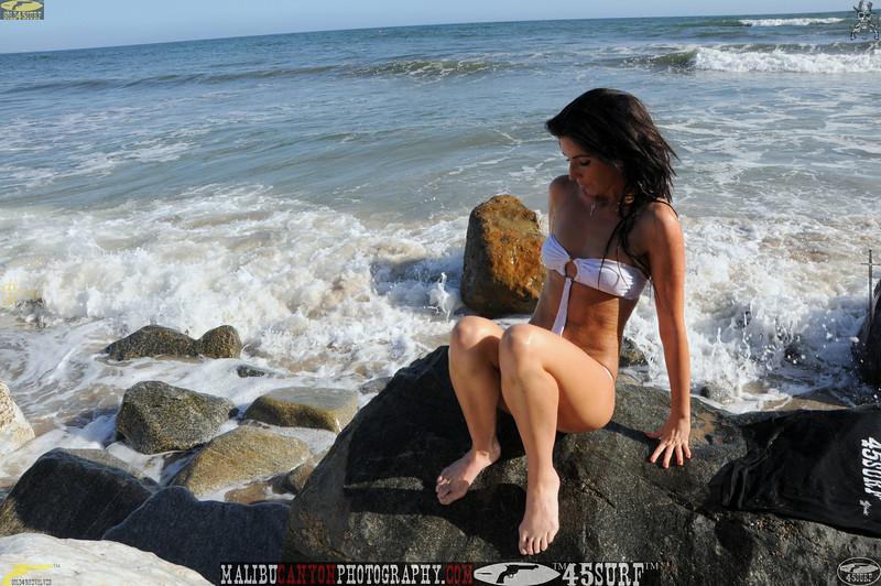 beautiful woman sunset beach swimsuit model 45surf 795.