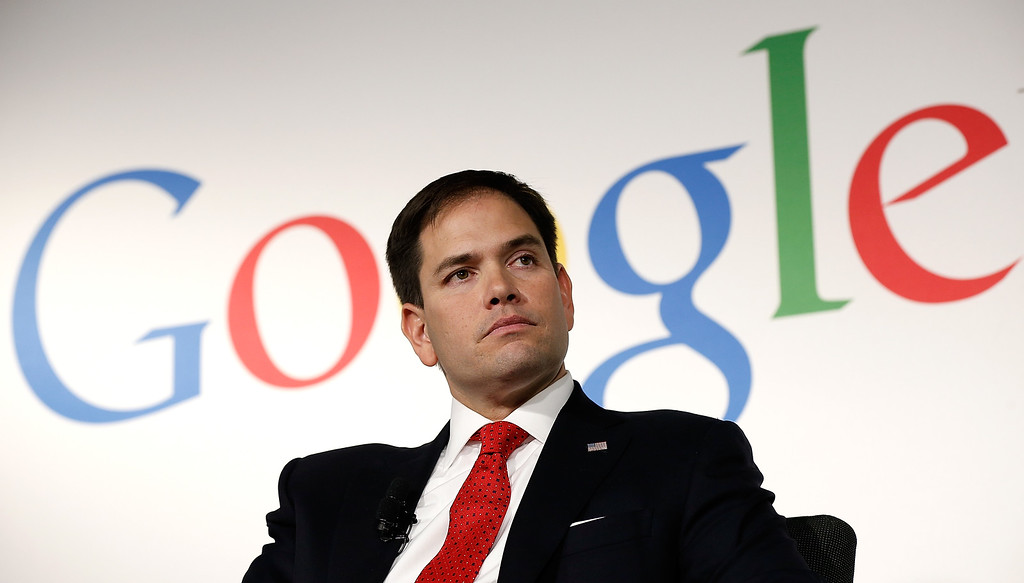 . U.S. Sen. Marco Rubio (R-FL) answers questions after speaking at Google\'s office during an appearance before the Jack Kemp Foundation March 10, 2014 in Washington, DC.   (Photo by Win McNamee/Getty Images)