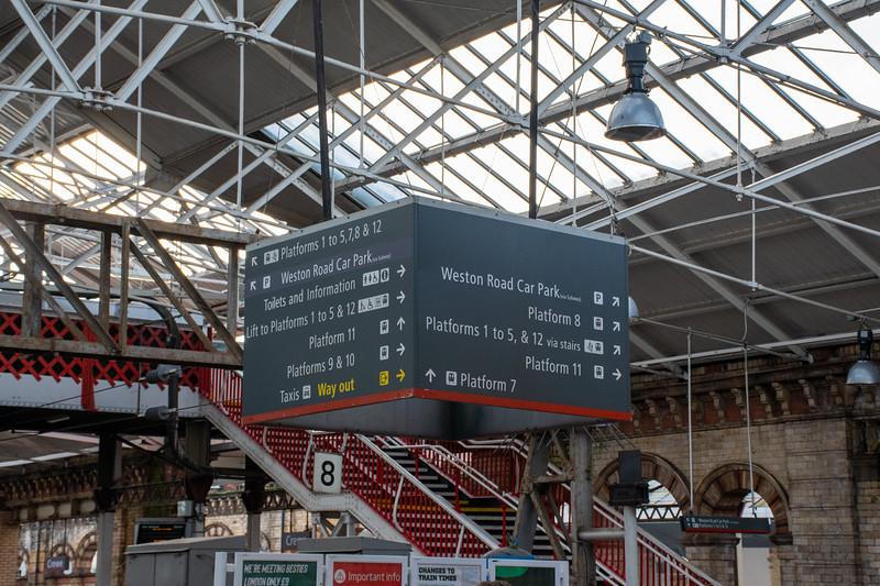 Virgin Trains - Directional Signage at Crewe