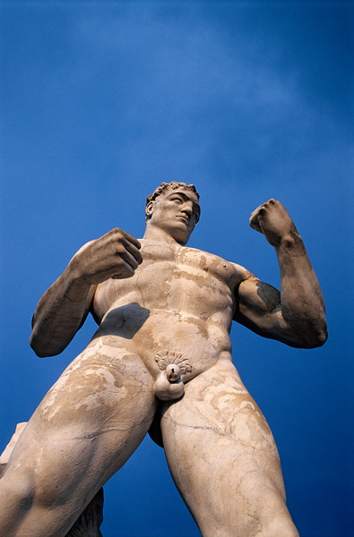 Fighter Statue at Foro Italico in Rome, Italy