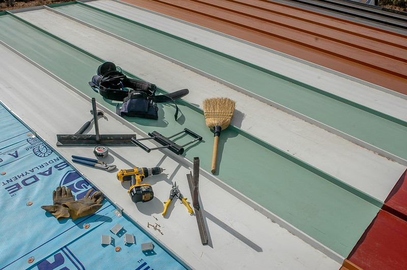 Standing Seam Metal Roof Tools (on practice hut roof)