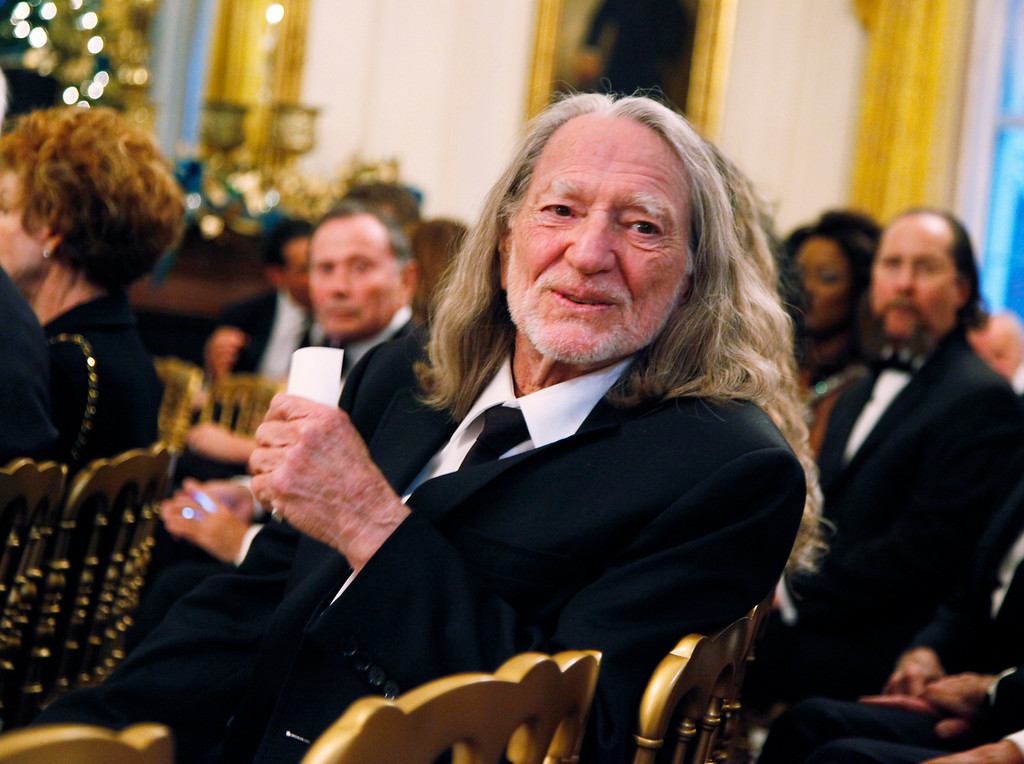 . Country singer Willie Nelson attends a reception for the recipients of the 2010 Kennedy Center Honors in East Room of the White House, Sunday, Dec. 5, 2010.  (AP Photo/Manuel Balce Ceneta)