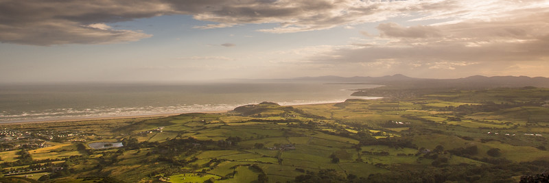 Sunset from Moel-y-Gest mountain