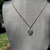1.63ctw Edwardian Diamond Pave Heart Pendant 10