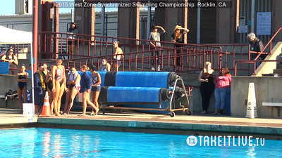 E05 - Senior Free Solo Competition - 2015 Western Zone Synchronized Swimming Championships - Livesynchro Powered by: Takeitlive.tv