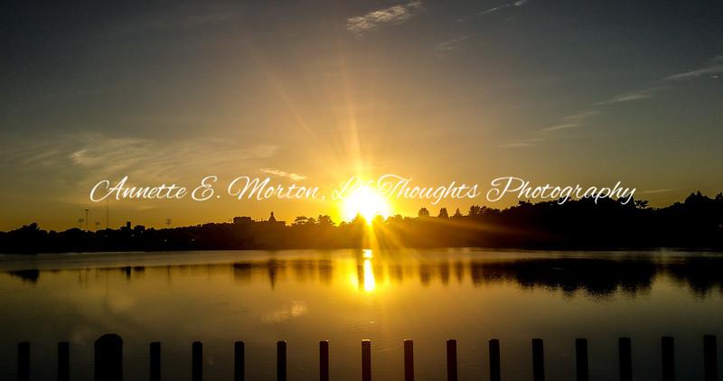 """Sunset Brilliance"" Lake Montebello, Baltimore MD"