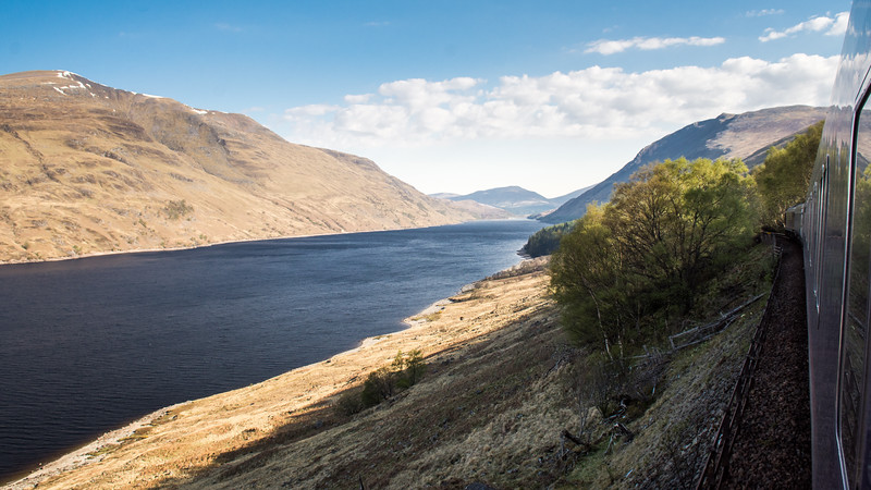Loch Treig and Highland mountains