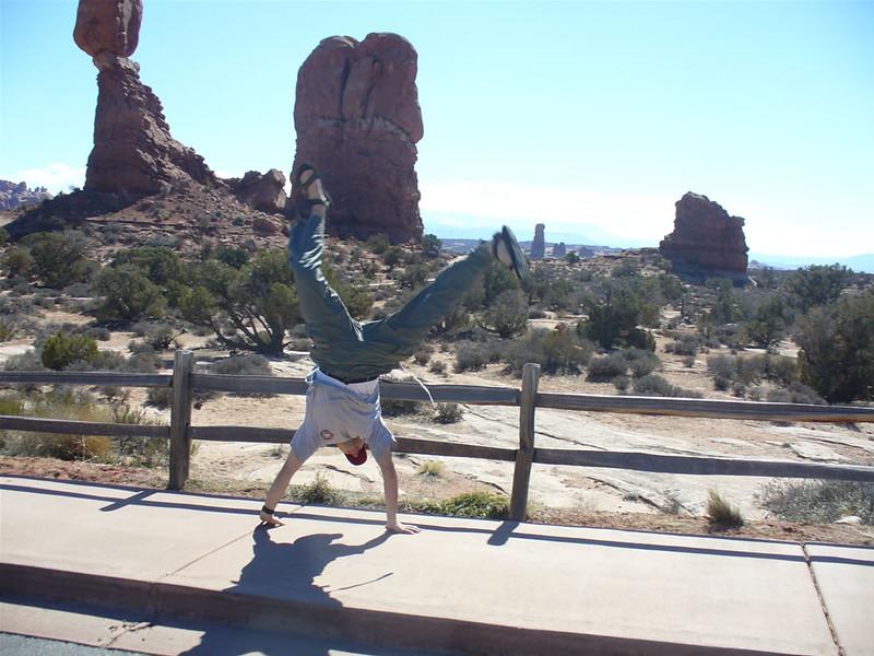 Andres Calderon - Balanced Rock, Arches National Park - Moab, Utah