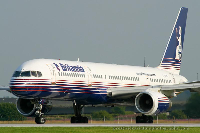 G-BYAE. Boeing 757-204. Britannia Airways. Glasgow. 070803.