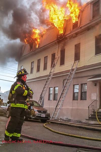 2 Alarm Structure Fire - Whitman St, Malden, MA - 5/6/17