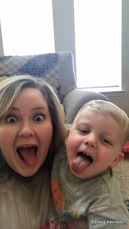 2018 11-17 Pamela hanging with her favorite little guy