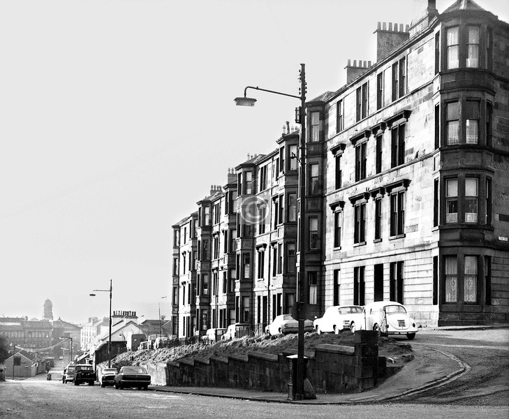 Firpark Terrace, overlooking Ark Lane.   Still there, with more trees.    January 1974