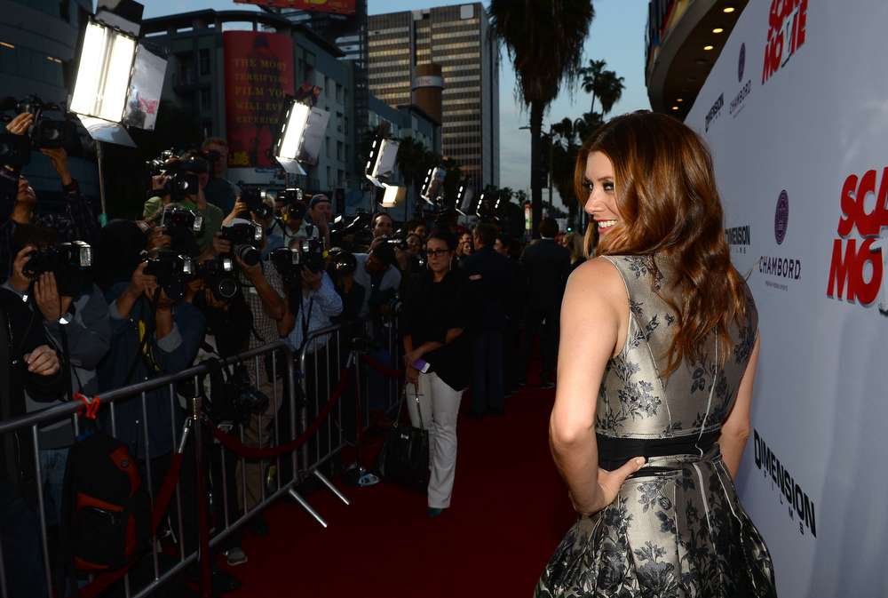 """. Actress Kate Walsh arrives for the premiere of Dimension Films\' \""""Scary Movie 5\"""" at ArcLight Cinemas Cinerama Dome on April 11, 2013 in Hollywood, California.  (Photo by Michael Buckner/Getty Images)"""