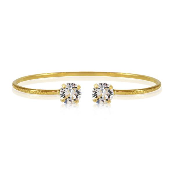 Petite Stud Bracelet / Crystal Gold