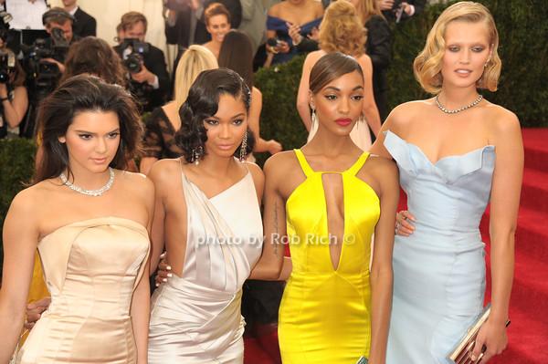 Kendall Jenner, Chanel Iman, Jourdan Dunn and Toni Garn  photo by Rob Rich/SocietyAllure.com © 2014 robwayne1@aol.com 516-676-3939