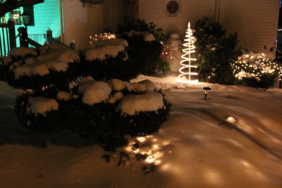 Snow, Night, Coaldale (12-30-2012)