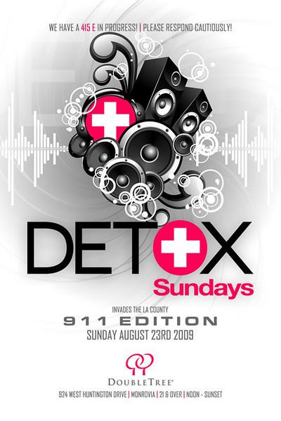 Mauricio Mejia Presents DETOX Sundays-LA @ Doubletree Hotel Monrovia 8.23.09