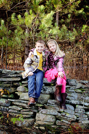 Aubriana and Joey at the Christmas tree farm