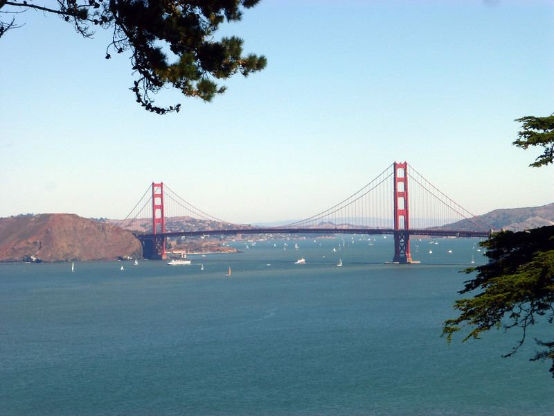 The Golden Gate Bridge from the ocean side