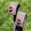 .79ctw Oval Padparadscha Sapphire Bezel Stud Earrings 17