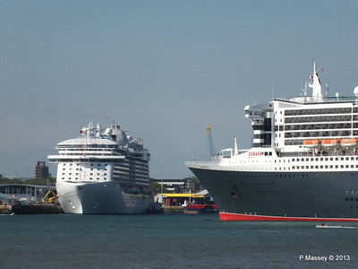 Cruise Ships Together in Port
