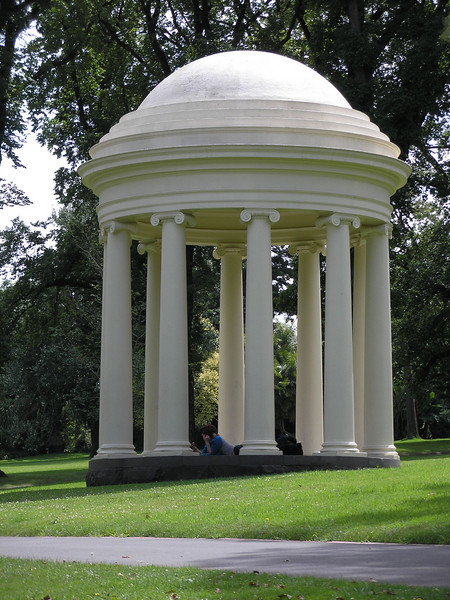 Studying in the shade - Fitroy Gardens