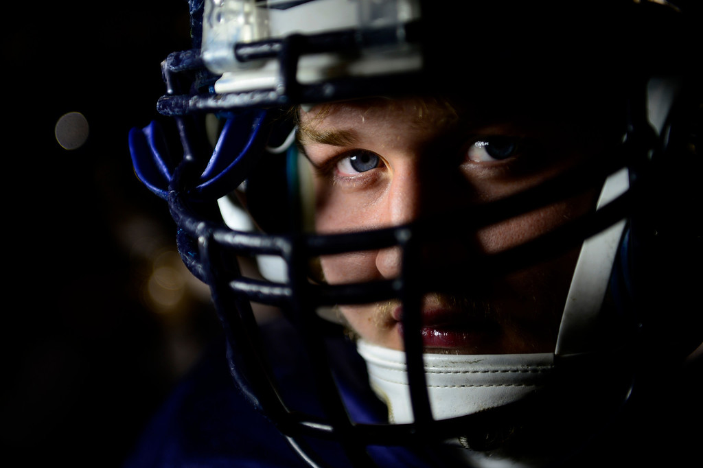 . Valor Christian starting center Cody Bratten. Valor Christian\'s offensive line has dominated opponents this season. (Photo by AAron Ontiveroz/The Denver Post)