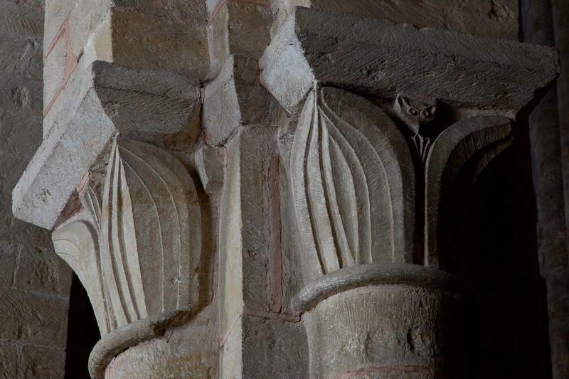 Abbey Church of Saint Foy Acanthus Leaves Capital