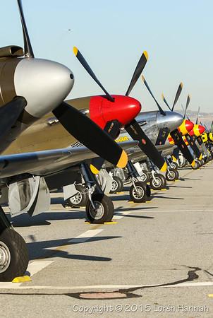 STATICS & RUNWAY - Planes of Fame 2015 Airshow - Chino, CA