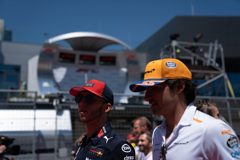 #10 Pierre Gasly, Red Bull and #55 Carlos Sainz, McLaren, Austria, 2019