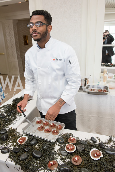 Kwame Onwuachi, WHCD Weekend, Thomson Reuters Brunch, Hay Adams, Apri 29, 2018. Photo by Ben Droz.