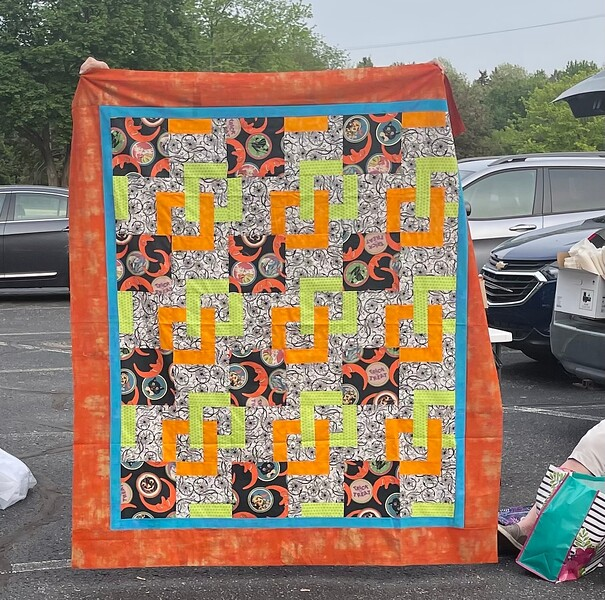 John Putnam went Halloween with his version of the mystery quilt.