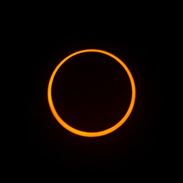 Annular eclipse at maximum. Taken from Redding, California.