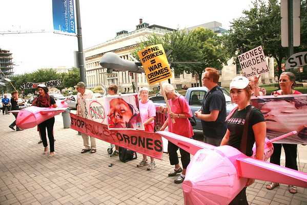 Protest the Killer Drone Association Meeting in D.C. August 13, 2013