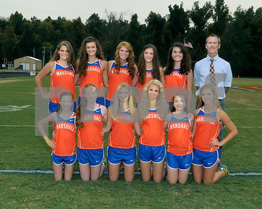 Marshall County High School 2012 Girls Cross Country Team, Chris Kerrick Coach, October 12, 2012.