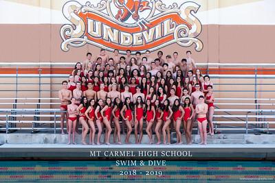 Mt Carmel Swim & Dive 2018-2019