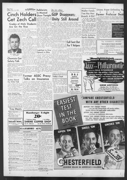 Daily Trojan, Vol. 42, No. 39, November 10, 1950