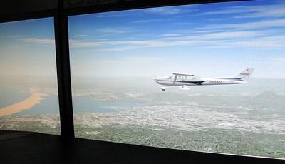 Flying toward Morrow VOR