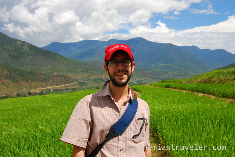 Stephen at rice paddies around Divine Madman temple Bhutan.jpg