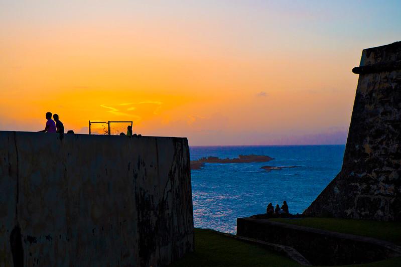 Sunset. San Juan. Puerto Rico