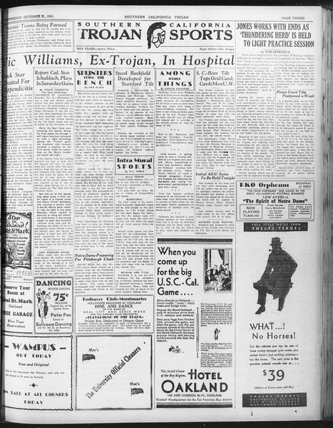 Daily Trojan, Vol. 23, No. 29, October 21, 1931