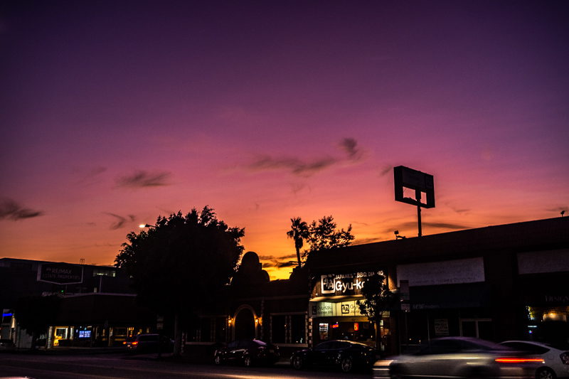 August 18 - Sunset over Pico, West Los Angeles, CA.jpg