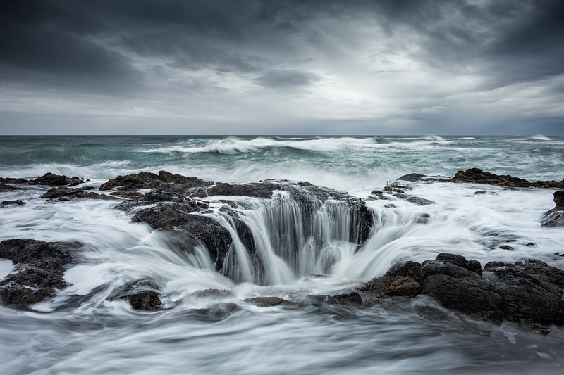 Landscape Photography at Thor's Well in Oregon