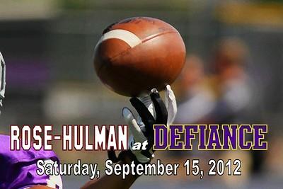 2012 Rose-Hulman at Defiance (09-15-12)