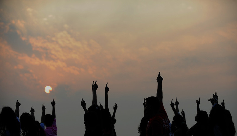 ". Indians dance as they participate in a ""One Billion Rising\"" rally in Mumbai on February 14, 2013.  Indians were at the forefront of global protests on Thursday in the One Billion Rising campaign for women\'s rights, galvanised by the recent fatal gangrape that shocked the country.   INDRANIL MUKHERJEE/AFP/Getty Images"