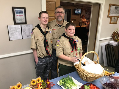 Boy Scouts serve meals at VFW Hall