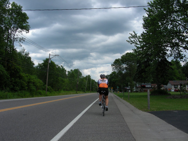 10 06-20  Ryan directs eveyone to follow singe file on the shoulder of the road.  kelli yoder