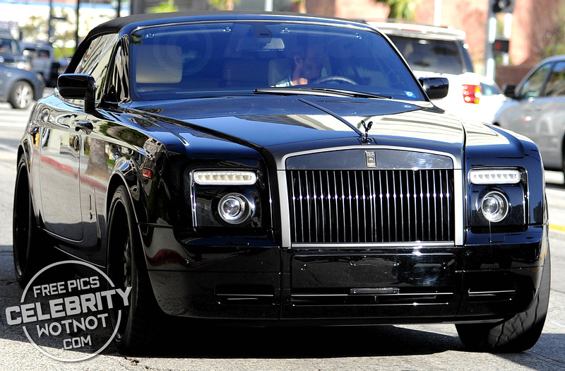 EXCLUSIVE: David Beckham Cruises Along Sunset Boulevard In His Rolls Royce Phantom