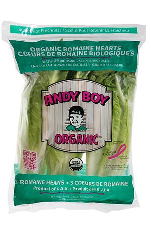 D'Arrigo Brothers Organic Romaine Hearts 11-16-14