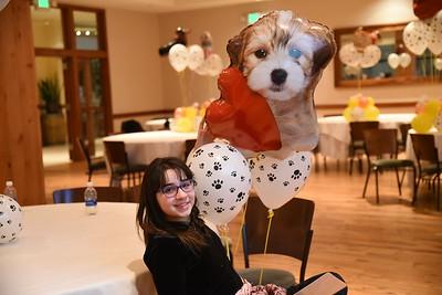 Ellie's bat mitzvah celebration at Pinstripes in Edina